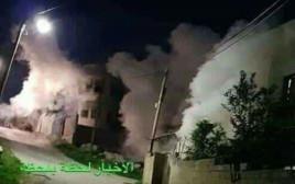 פיצוץ הבית בו שהה המחבל מהפיגוע באריאל