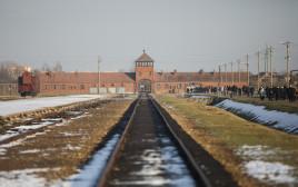 פסי הרכבת באושוויץ