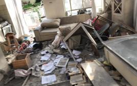 הבית שנפגע מרקטה במשמרת