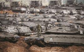 כוחות שריון בגבול עזה