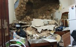 הקיר שקרס בדירה בנצרת