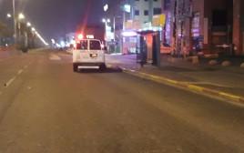 זירת התאונה בשדרות ההסתדרות בחיפה
