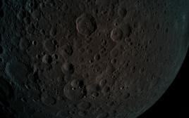 """הירח כפי שהוא נראה מהחללית הישראלית """"בראשית"""""""