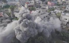 הריסת בית המחבל שביצע את הפיגוע באריאל