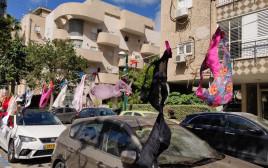 תחתונים מתחת לביתו של נתן אשל בתל אביב