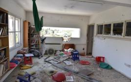 פגיעה ישירה בבית במועצה האזורית חוף אשקלון
