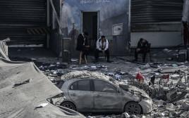 הריסות ברצועת עזה לאחר תקיפה ישראלית