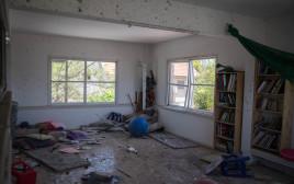 בית שנפגע מרקטה