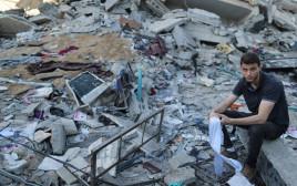 הריסות בעזה לאחר תקיפה ישראלית