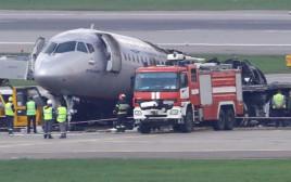 מטוס איירופלוט שביצע נחיתת חירום במוסקבה