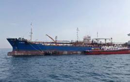 אחת הספינות שנפגעו סמוך לאיחוד האמירויות