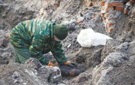 איתור שרידי הגופות בבריסק