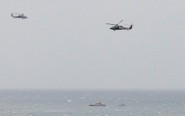 ספינה של משמרות המהפכה האיראניים ליד נושאת מטוסים אמריקאית במיצרי הורמוז