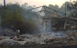 שריפה בקיבוץ הראל