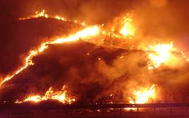 שריפה סמוך למנחמיה