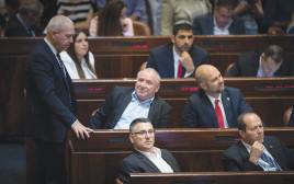חברי הליכוד בהצבעה על פיזור הכנסת