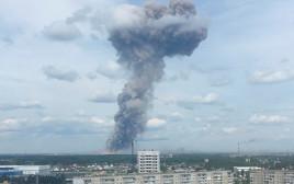 פיצוץ מפעל תחמושת ברוסיה