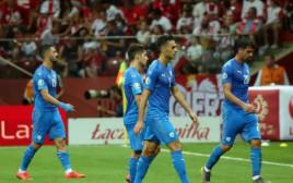 שחקני נבחרת ישראל מאוכזבים