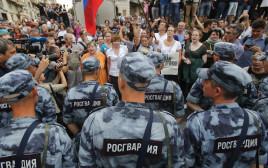 הפגנה במוסקבה נגד המשטרה