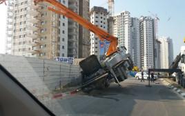 זירת התאונה בקרית מוצקין