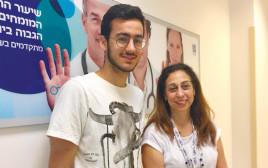 דורית בן עזרא ובר פהימה צילום מכבי