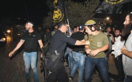הפגנות פעילי ימין קיצוני שלשום