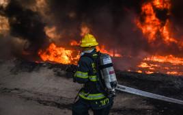 שריפה שפרצה בשער הנגב