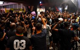הפגנה של יוצאי אתיופיה בקריית אתא