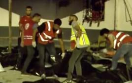 מתקן המעצר בו נהרגו המהגרים בלוב