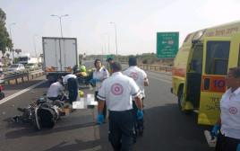 זירת התאונה בכביש 40