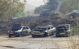 10 רכבים עלו באש בשריפה בירושלים