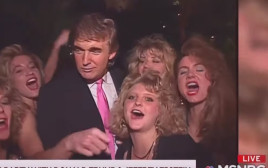 טראמפ חוגג עם נשים לצד אפשטיין