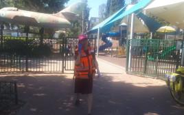 הגן הציבורי ברחובות בו נדקר הילד