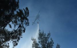פעולות הכיבוי בשריפה בבית מאיר