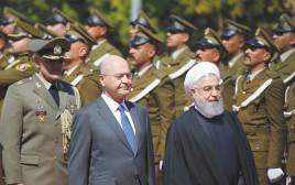 נשיא עיראק ברהם סאלח מארח את רוחאני בבגדד
