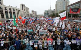 הפגנת האופוזיציה במוסקבה, רוסיה