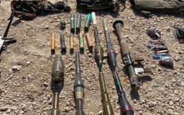 כלי נשק מניסיון הפיגוע בגבול רצועת עזה