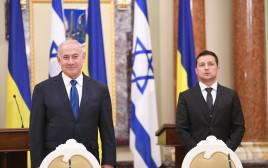 הצהרות ראש הממשלה בנימין נתניהו עם נשיא אוקראינה וחתימת הסכמים