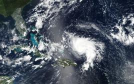 תצלום לווייני של הוריקן דוריאן ליד פלורידה
