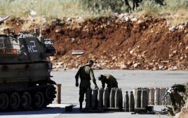 """חיילי צה""""ל בגבול סוריה-ישראל"""