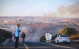 אזור התקרית בגבול לבנון