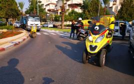 זירת התאונה באור יהודה