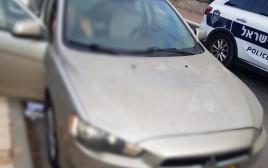 פורץ נרדם ברכב באשדוד