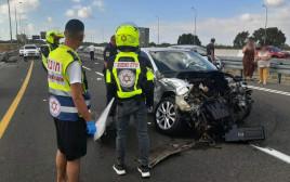 התאונה ליד הצ'ק פוסט בחיפה