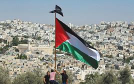 דגל פלסטין מעל חברון