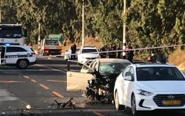 פיצוץ רכב בכביש 65