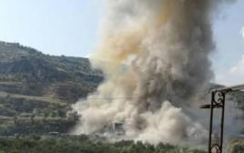 """הפלת מל""""ט בדרום לבנון"""