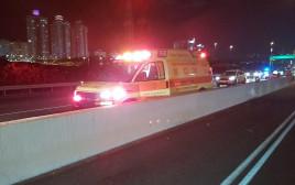 תאונה בכביש החוף