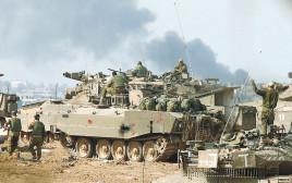 טנק במהלך מבצע עופרת יצוקה