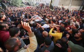 הלווייתו של בהאא אבו אל-עטא ברצועת עזה